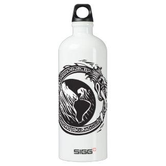 Midgard Serpent and Earth Aluminum Water Bottle