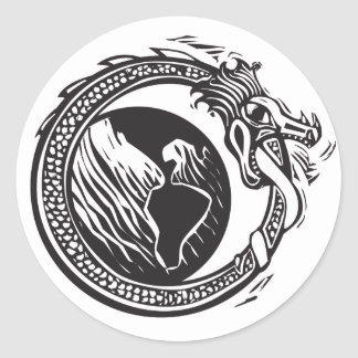 Midgard Serpent and Earth Classic Round Sticker