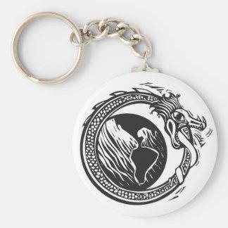 Midgard Serpent and Earth Keychain