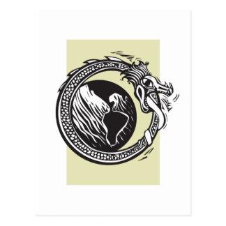 Midgard Serpent and Earth Postcard
