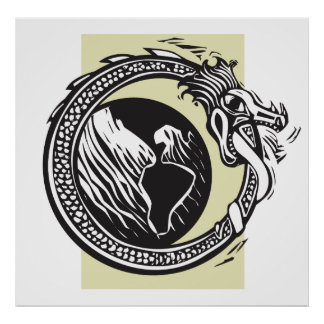 Midgard Serpent and Earth Poster