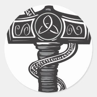 Midgard Serpent Classic Round Sticker