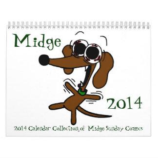 Midge 2014 'Sunday Comics' Calendar