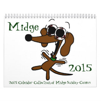Midge 2015 'Sunday Comics' Calendar