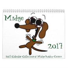 Midge 2017 'sunday Comics' Calendar at Zazzle