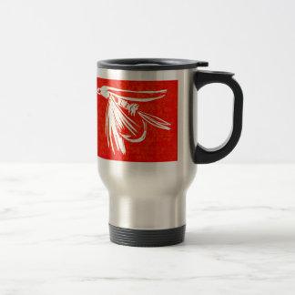"""Midge Red - Cruel Trout"" Fly Fishing Mug"