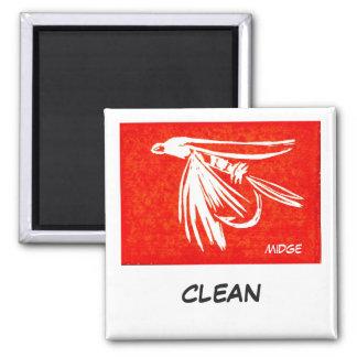 """Midge Red"" Dish Washer Status Magnet"