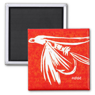 """Midge Red"" Trout Fly Art Magnet"