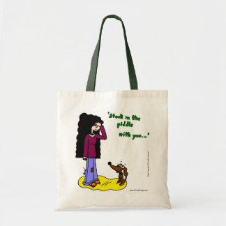 """Midge """"Stuck In The Piddle With You"""" Tote Bag"""