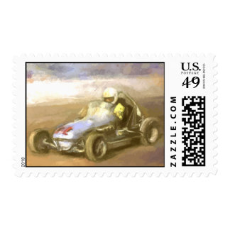 Midget Racer Postage Stamp