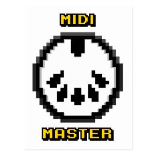 Midi Master 8bit Chiptunes Postcard