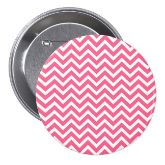 Midi Pink and White Chevron ZigZag Buttons