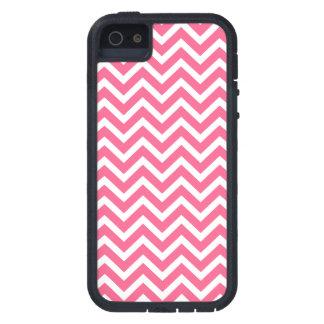 Midi Pink and White Chevron ZigZag iPhone SE/5/5s Case