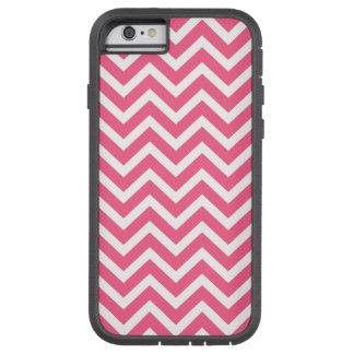 Midi Pink and White Chevron ZigZag Tough Xtreme iPhone 6 Case