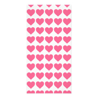 Midi Pink Candy Hearts on White Picture Card