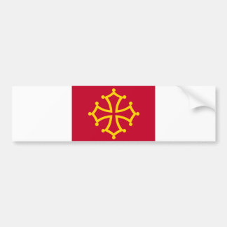 Midi Pyrenees flag france country french region Bumper Sticker