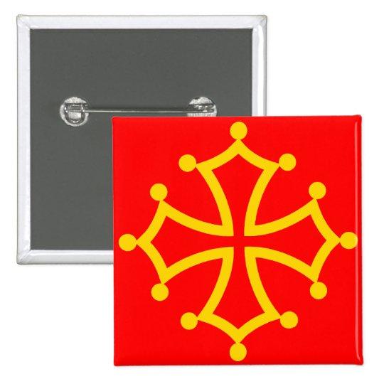 Midi-Pyrenees, France flag Pinback Button