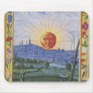Midieval City of the Sun Face Mousepad