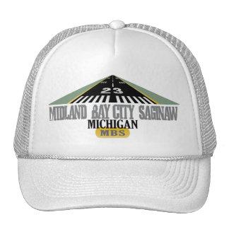 Midland Bay City Saginaw MI - aeropuerto Gorras De Camionero