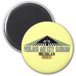 Midland Bay City Saginaw MI - Airport 2 Inch Round Magnet