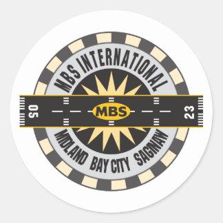 Midland Bay City Saginaw, MI MBS Airport Classic Round Sticker