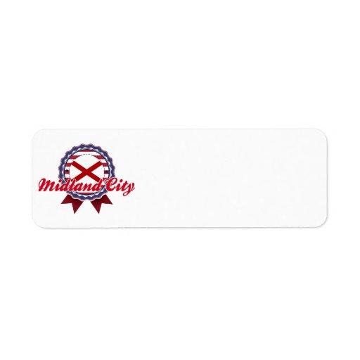 Midland City, AL Return Address Label