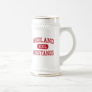 Midland - mustangos - alto - llanos agradables jarra de cerveza