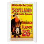Midland Railway Scotland Bagpipe Kilt Travel Art