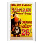 Midland Railway Scotland Bagpipe Kilt Travel Art Card