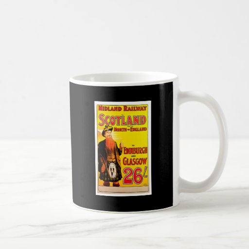 Midland Railway Scotland Bagpipe Kilt Travel Art Coffee Mugs