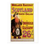 Midland Railway to Scotland Post Card