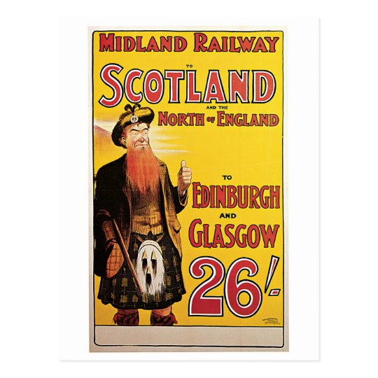 Midland Railway to Scotland Postcard