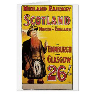 Midland Railway Vintage Travel Poster Card