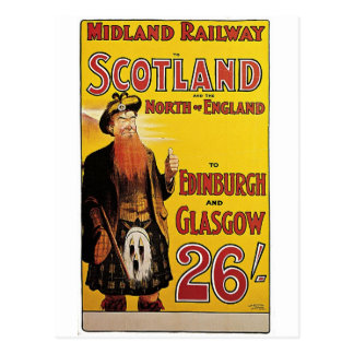 Midland Railway Vintage Travel Poster Postcard