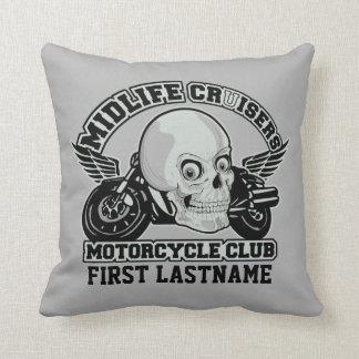 Midlife Cruisers MC custom throw pillow
