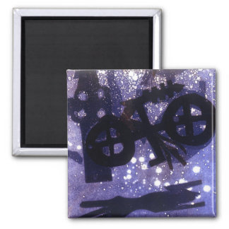 Midnight 2 Inch Square Magnet