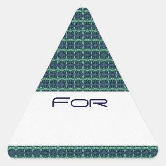 Midnight Aqua Barbed Diamond Pattern Gift Tag