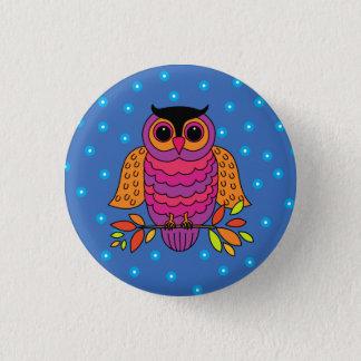 Midnight Autumn Owl Pinback Button