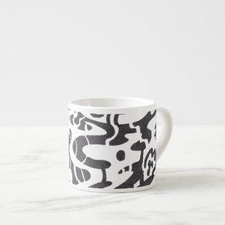 """Midnight"" B&W Abstract Espresso Mug"