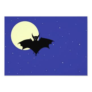 Midnight Bat 2 5x7 Paper Invitation Card