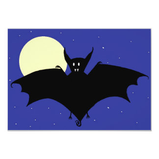Midnight Bat 5x7 Paper Invitation Card