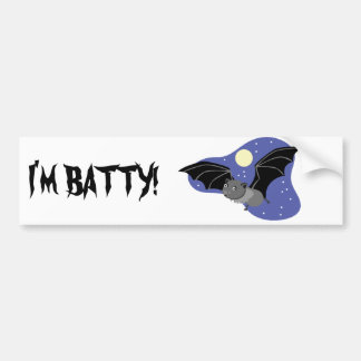 Midnight Bat Bumper Sticker