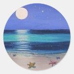 Midnight beach Sticker