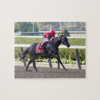 Midnight Bisou - Beldame Stakes Jigsaw Puzzle