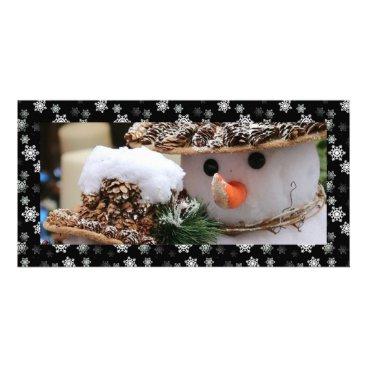 Disney Themed Midnight Black and White Snow Flurries Custom Card