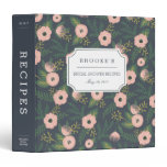 Midnight Blooms Bridal Shower Recipe 3 Ring Binder