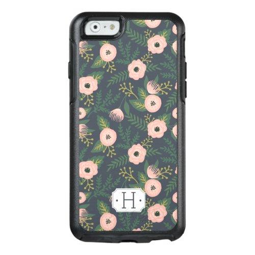 Midnight Blooms Monogram Phone Case