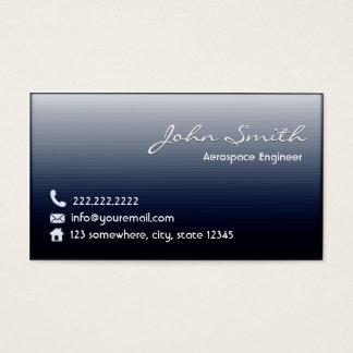 Midnight Blue Aerospace Engineer Business Card
