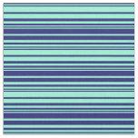 [ Thumbnail: Midnight Blue and Aquamarine Lines Fabric ]