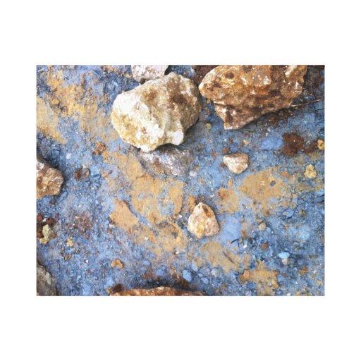 Midnight Blue and Chert Canvas Print